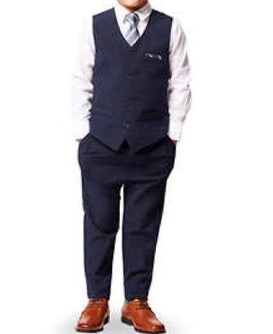 Andy & Evan boys four pieces set vest suit