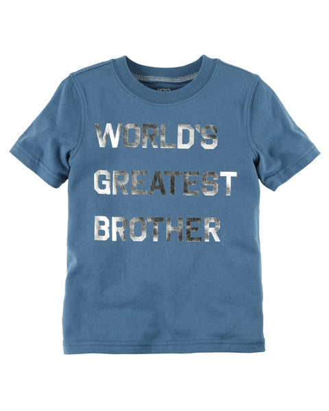 Carter's Foil-Print World's Greatest Brother Graphic size 2 T