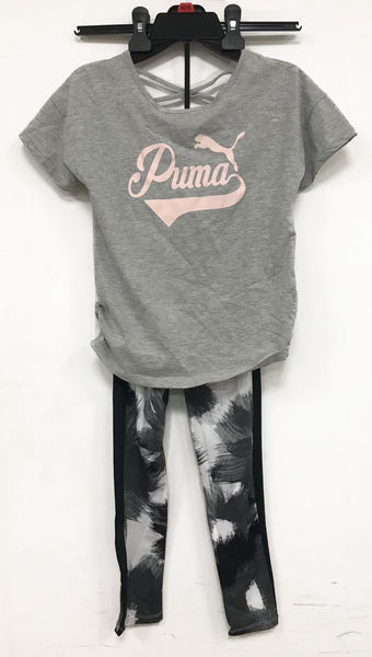 Puma two pc set tshirt and legging