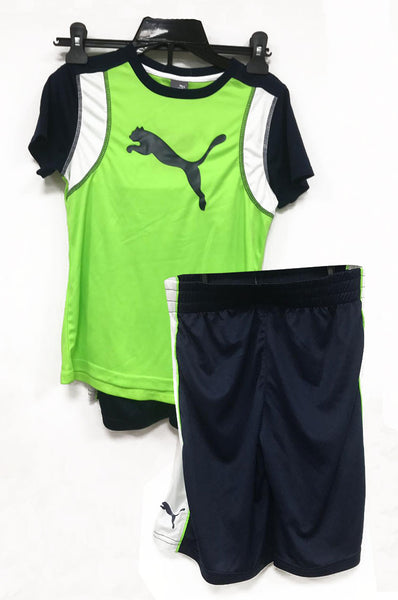Puma 2 pc set active green