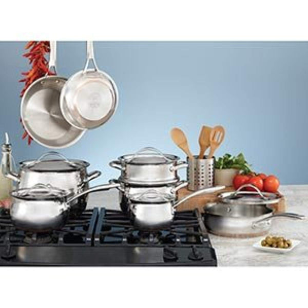 Kirkland Signature 18/10 Stainless Steel 13 Piece Cookware Set (559728)