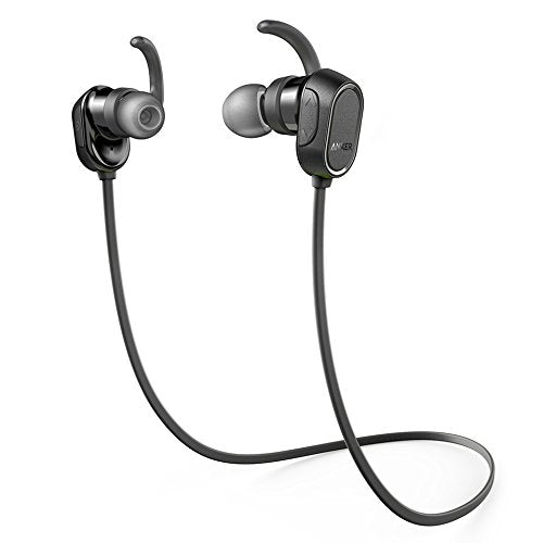 Anker SoundBuds Sport Wireless Headphones - Bluetooth Black Water Resist Built in Mic