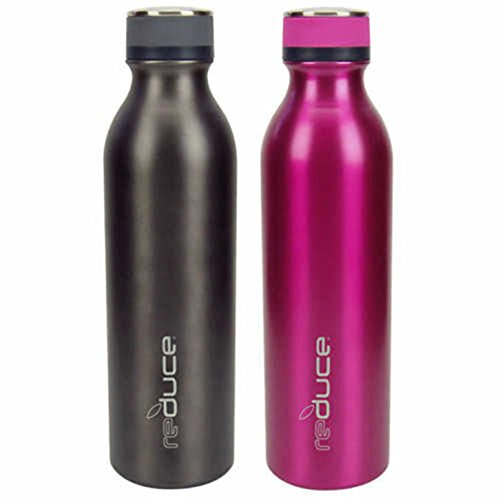 Reduce Cold-1 Stainless Steel Insulated Bottle - 2 Pack (PINK/GRAY)
