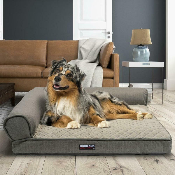 Kirkland Signature (91.4 x 106.7 cm) Memory Foam Bolster Pet Bed