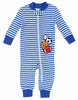 Little Me Boys 1 Piece Long Sleeve Sleeper Full Zip or Snap Footie Pajama blue Stripes