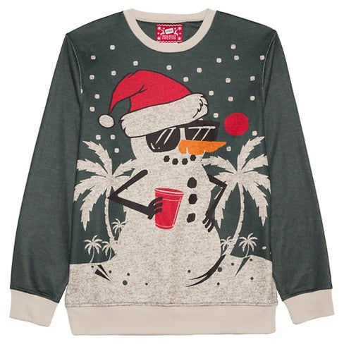 holiday sweater charcoal snowman