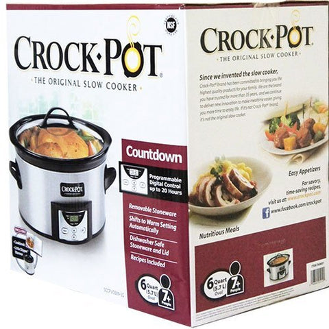 CROCK-POT The Original Slow Cooker (6 Quart Oval with Programmable Digital Control)