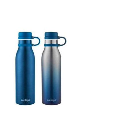 Contigo Thermalock Stainless Steel 20 Oz Water Bottle  (Monaco and Ombre)