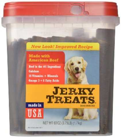 Jerky Treats Tender Beef Strips Dog Snacks, 1.7 kg