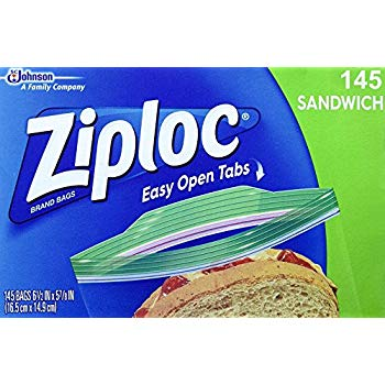 Ziploc Easy Open Tabs Sandwich Bags 145 count
