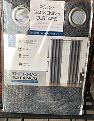Thermal Balance Room Darkening Curtains GREY