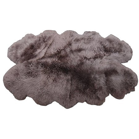 "Windward Natural Sheepskin Area Rug Taupe Color 73x43"" Extra Soft Touch"