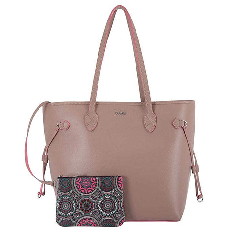 Lodisbliss Leather Tote With Wristlet.