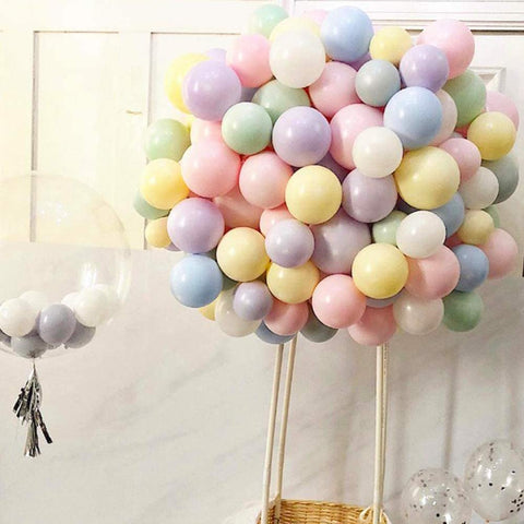 Soonlyn Assorted Color Party Balloons 100 Pcs 10 In Rainbow Pastel Balloon Garland Arch Kit for Birthday Party Decoration Baby Shower