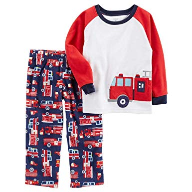 Carter's Boy's Fleece Firetruck Pajama Pants Set