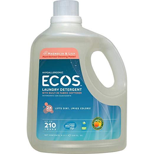 Magnolia and Lilies, Earth Friendly Products Ecos Liquid Laundry Detergent, 210 Ounce