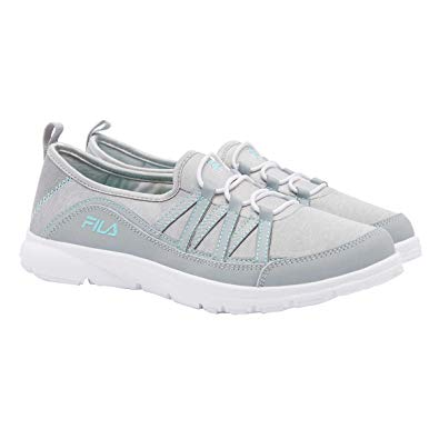 Fila Women's Memory Pilota Foam Gray White Athletic Shoes Comfort