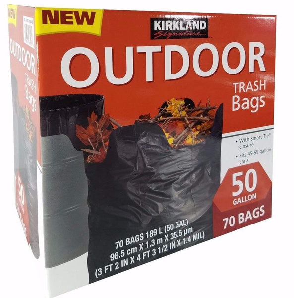 Kirkland Signature Outdoor 50 gallon Trash Bags (70 Pack)