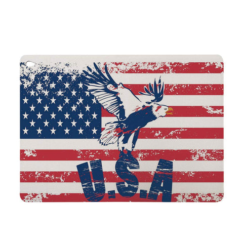 "Auto Sleep Awake Smart Case Cover for Apple Mini iPad 7.9"",Slim Lightweight Anti-Scratch Shell,American National Flag with Eagle and USA Artistic"