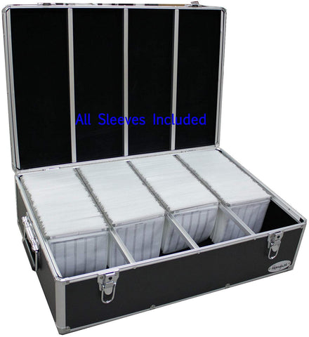 New MegaDisc 1000 Cd DVD Black Aluminum Hard Case for Media Storage Holder w/Hanger Sleeves