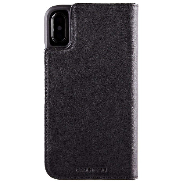 Case-Mate iPhone X Case - WALLET FOLIO - Leather Wallet - ID + Cards + Cash - Protective Design - Black