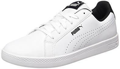 Puma Smash Perf, Sneakers Basses Femme, Blanc (White-Black) size 10.5