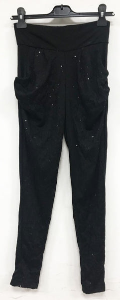 Cleo loose cotton pant with black sequins