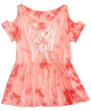 Kandy Kiss Gypsy Soul Tie-Dyed Cold-Shoulder Top, Big Girls (7-16)