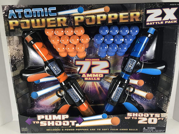 Hog Wild Atomic Power Popper 2X Battle Pack 72 Foams