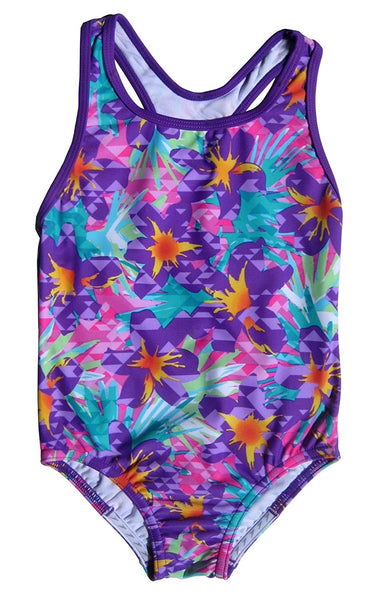 Speedo Girls Jungle Floral Racerback One Piece Swimsuit
