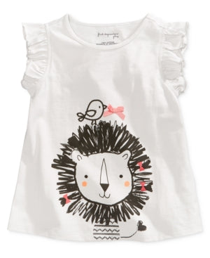 First Impressions Lion-Print Cotton T-Shirt, Baby Girls