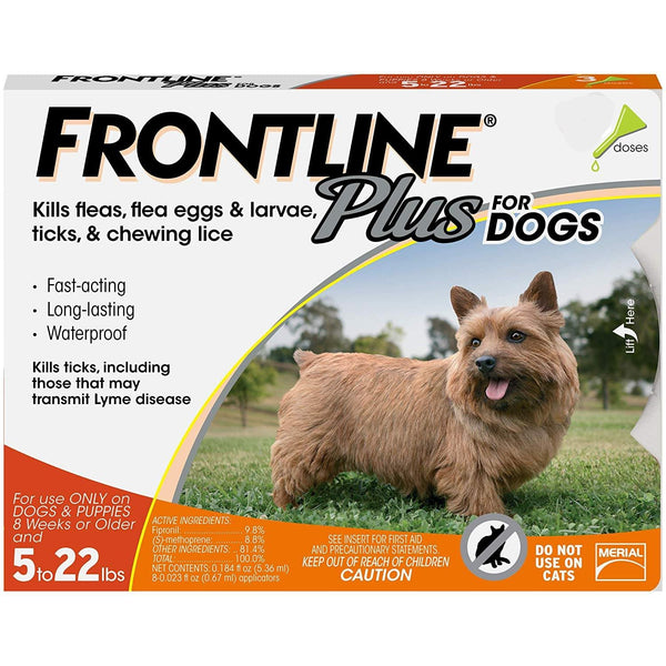 Frontline Plus for Dogs Small Dog (2.2-9.9 Kg) Flea and Tick Treatment