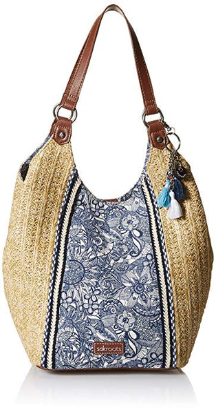 Sakroots Womens Roma Straw Shopper