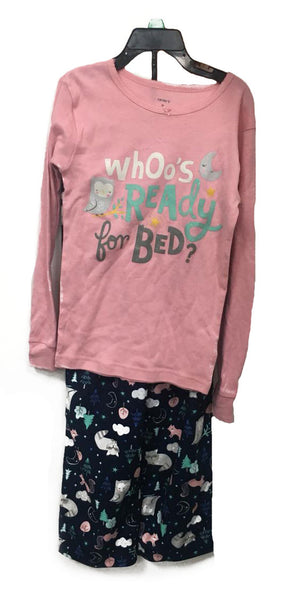 Carter's 2 pieces pyjama who's ready for bed? age: 8