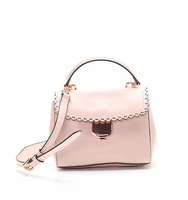 Michael Kors | Ava Scalloped Leather Crossbody Bag (Soft Pink)