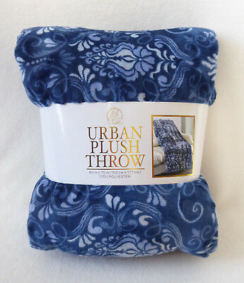 Urban plush throw - Blue Pattern 60 x 70""