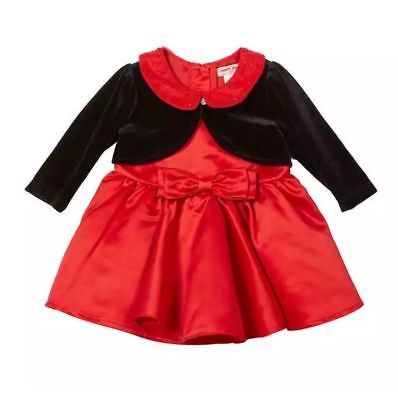 Nanette Lepore Baby Special Occasion Dress Red Dress / Black Jacket size 6 m