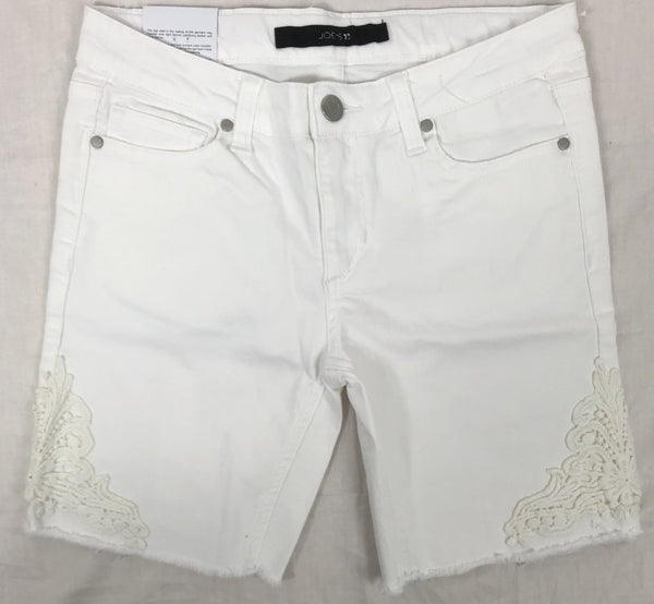 Joe's Girls The Finn Mid Rise Bermuda Shorts Bright White