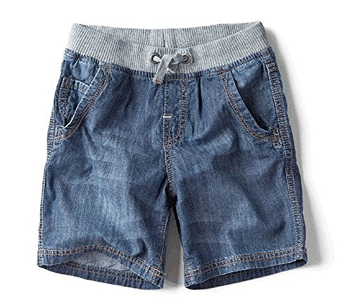 VANGULL Boys Kids Drawstring Elastic Denim Shorts size 13