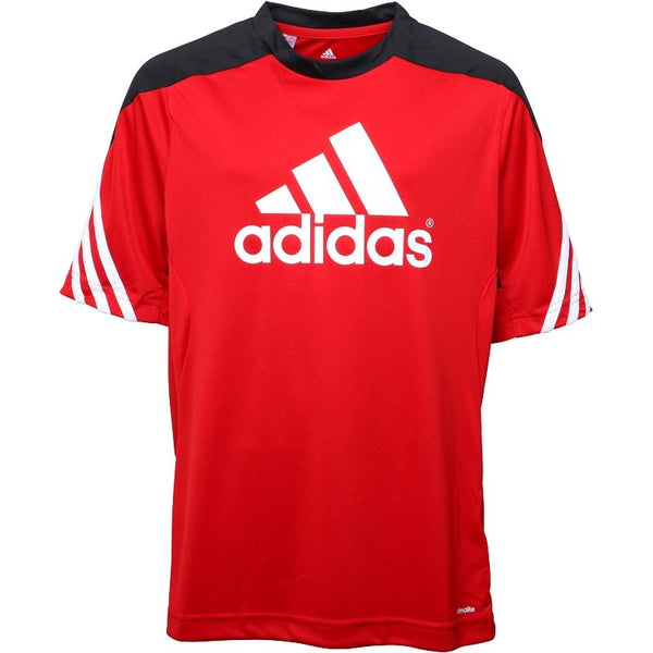 Adidas Training Shirt University Red/Black/White size 6