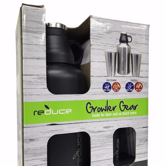 reduce Stainless Steel - 3 Pack Growler Gear - Made for Beer, Coffee and so much more
