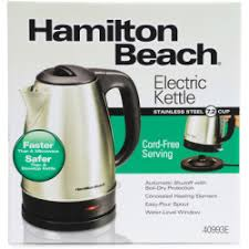 Hamilton Beach Stainless Steel Electric Cordless Kettle 7.2 CUP (1.7 Liters) - 40989