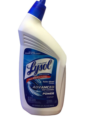 Lysol Professional Disinfectant Toilet Bowl Cleaner with Advanced Deep Cleaning Power, 32 Oz