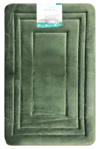 "Novaform Home Luxe Memory Foam Spa Mat 36"" X 24"" Mold Mildew Resistant Grip Back"