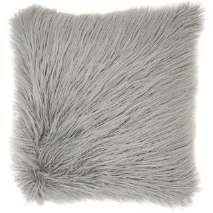 "Mon Chateau Tibetan Mongolian Fur Lamb Fur Down Pillow GREY 18"" x 18"""