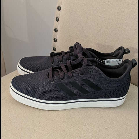 Adidas Mens True Chill Carbon Grey Black Skateboard Sneakers