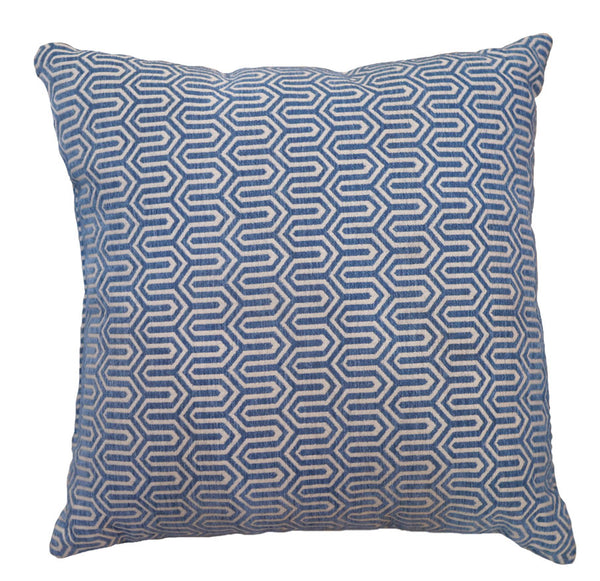 Studio chic home pillow decorative blue design 20x20