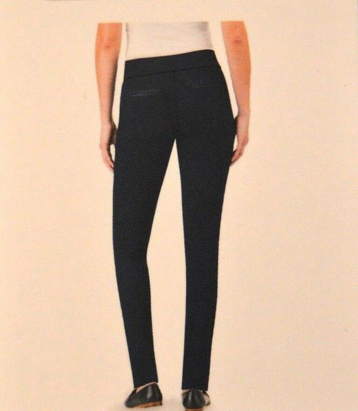 Hilary Radley Black Patterned Slim Leg Womens  Dress Pants Stretch Leggings S