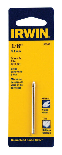 Irwin Tools 50508 Carbide Tile and Glass Drill Bit 1/8""