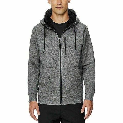 32 Degrees Heat Men's Full Zip Hoodie Sherpa Lined Jacket - Size: Large
